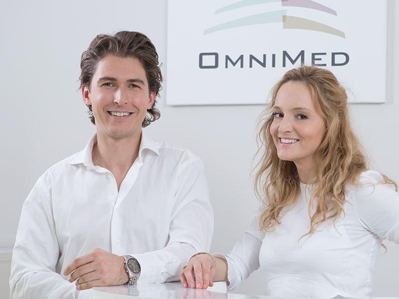 Dr. Horwath und Dr. Reichhart von Omnimed Eisenstadt