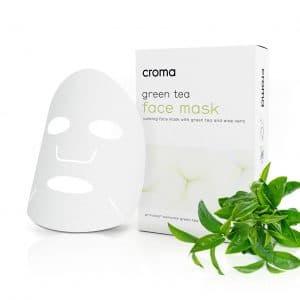 Beruhigende Gesichtsmaske mit grünem Tee und Aloe Vera